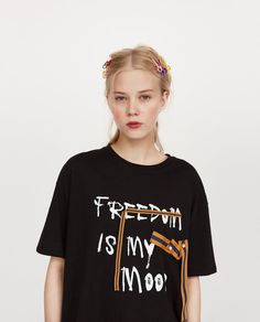 Zara Freedom T-Shirt Sz:L