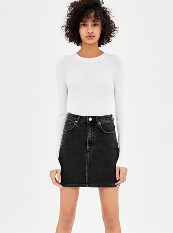 Zara TRF Authentic Denim Mini Skirt Sz: 25