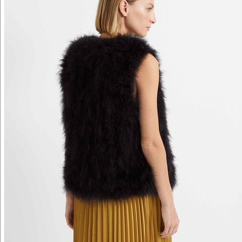 Club Monaco Marabou Feather Vest Sz: XS