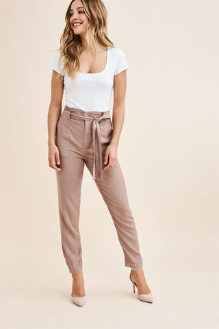 Dynamite Cindy Belted Trousers Sx: XS