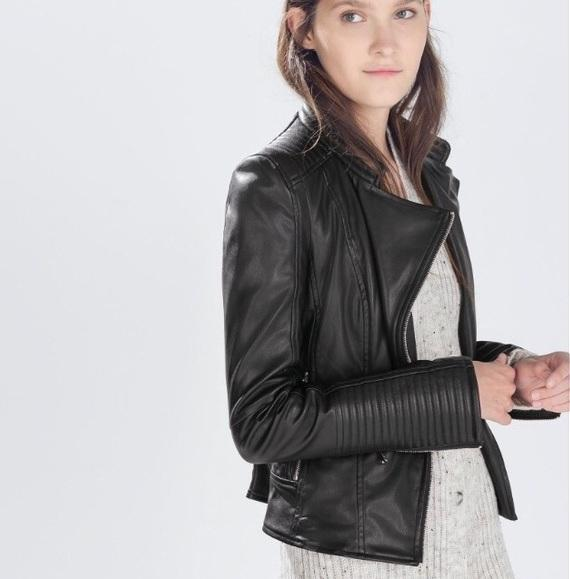 Zara Leather Jacket Sz M