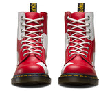 Dr. Marten Pascal Poppy Red & White Boots Sz: 10