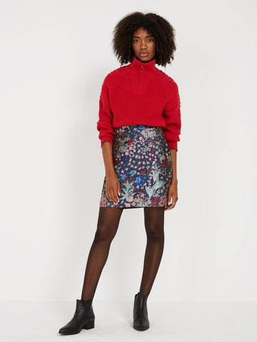Frank and Oak Jacquard Skirt Sz:S