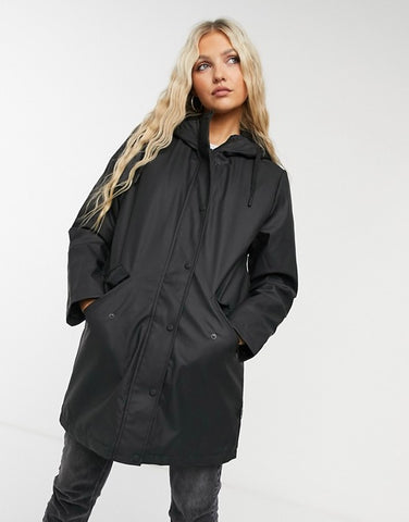 Only Black Raincoat Sz: S