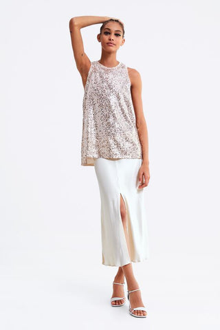 Zara Pink Sequin Top Sz: L