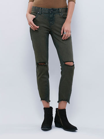 Free People Destroyed Ankle Skinny Sz: 26
