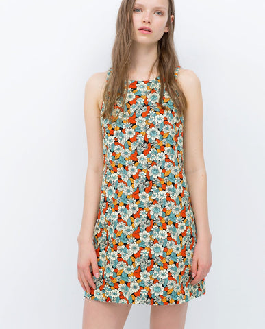 Zara Floral Dress Sz: XS