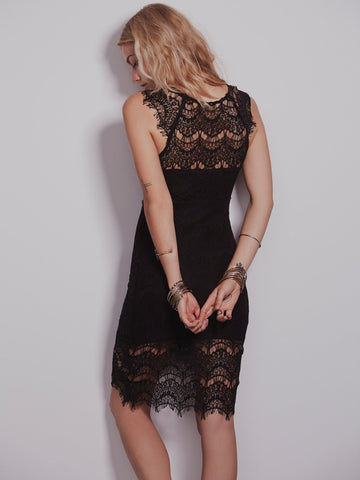 Free People Lace Slip Dress Sz: L