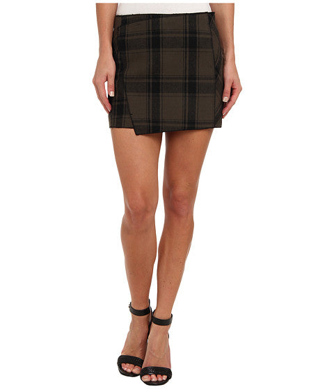 Free People Bonded Plaid Skirt Sz: 2