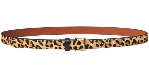Banana Republic Animal Print Calf Hair Belt Sz: L
