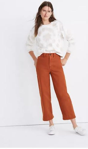 Madewell Slim Emmett Wide-Leg Crop Pants Sz: 29