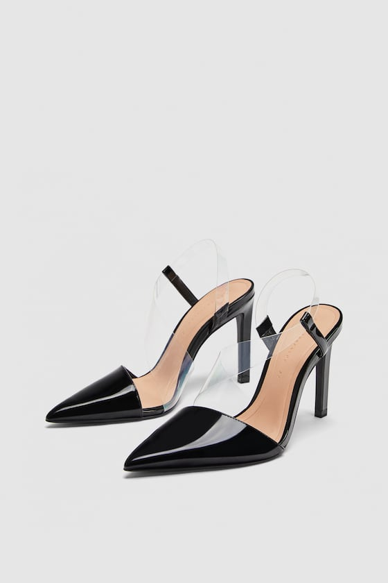 Zara Vinyl Asymmetric Pumps Sz. 39