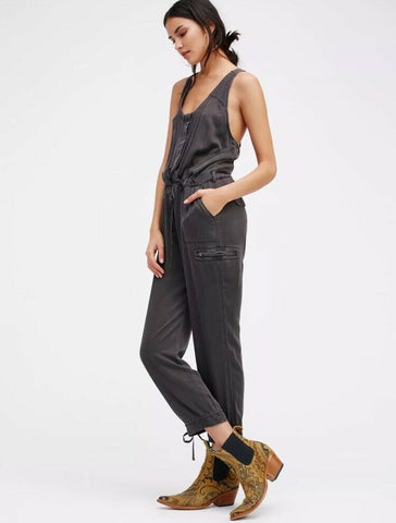 Free People Roaring Rayon Jumpsuit Sz: 8