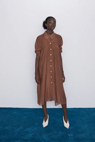 Zara Shirt Dress Sz: M