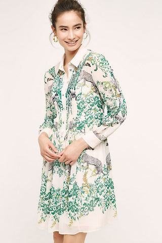 Maeve Printed Shirt Dress Sz:10