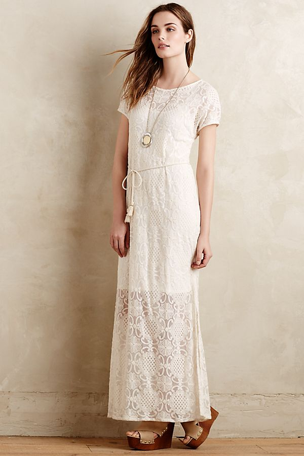 Anthropologie Bellflower Lace Dress Sz: S