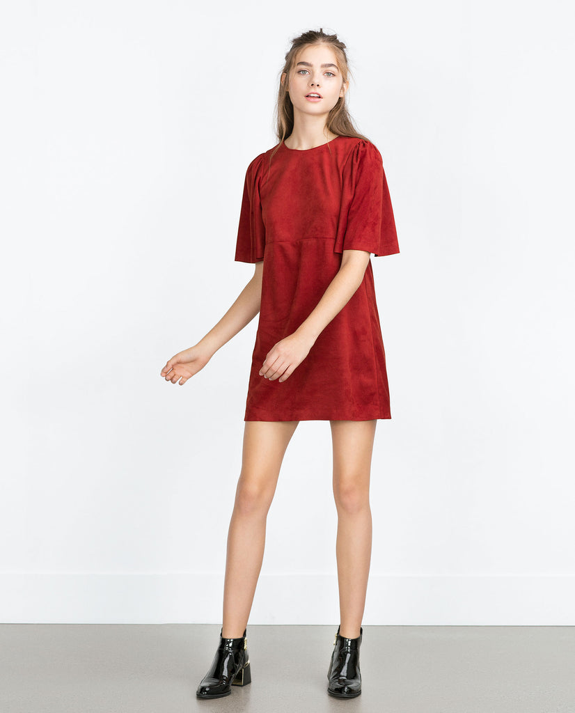 Zara Suede Dress Sz: Small