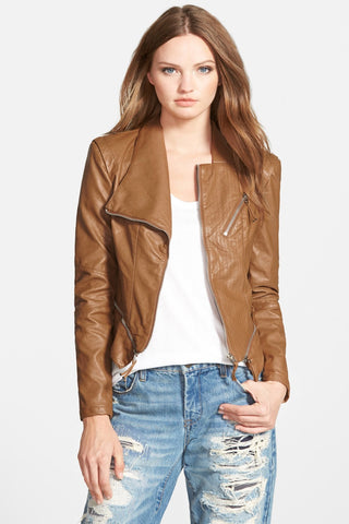 Blank NYC Vegan Leather Jacket Sz S