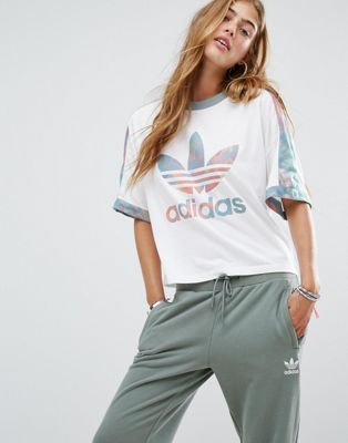 Adidas Pastel Crop Top Sz:S