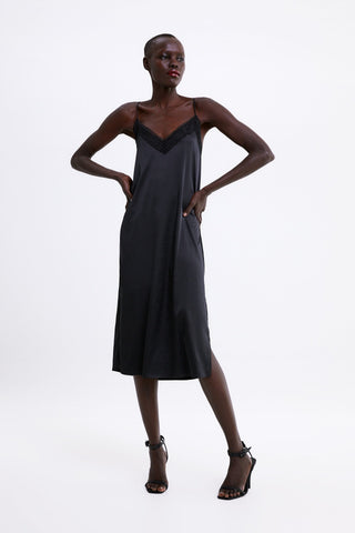 Zara Camisole Slip Dress Sz: L