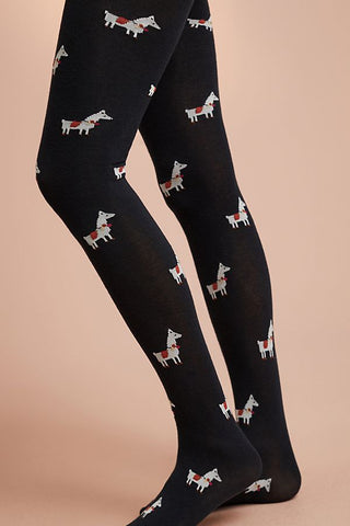 Anthropologie Llama Tights NEW One Size Fits All