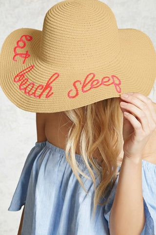 Eat, Beach, Sleep Sunhat