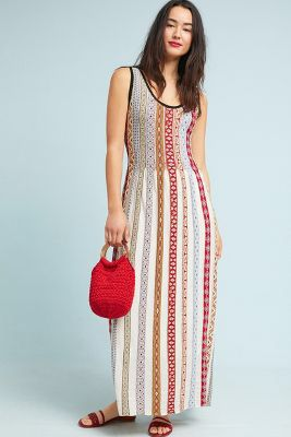 Aldomartins Striped Maxi dress Sz: L