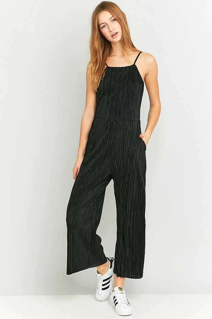 Sparkle & Fade Pleated Jumpsuit Sz: S