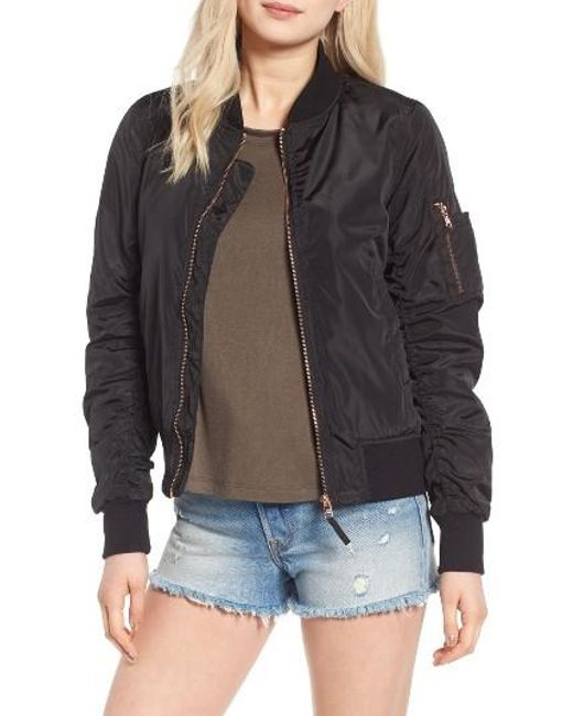 Steve Madden Side Zip Bomber Jacket Sz: M