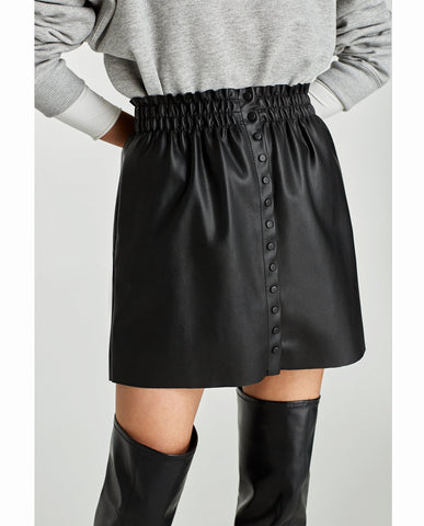 Zara Leather Skirt Sz: M