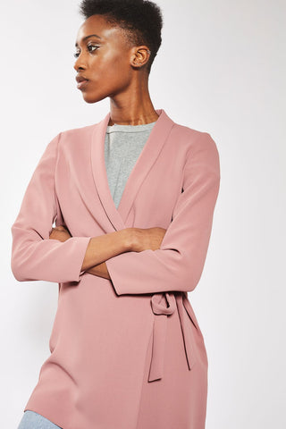 Topshop Tie Side Blazer Dress Sz: 8