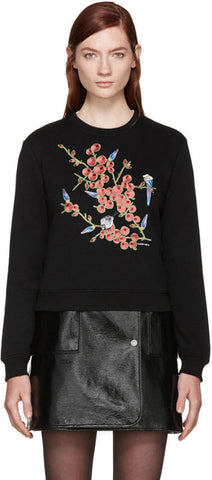 Carven Embroidered Sweatshirt Sz L *see note