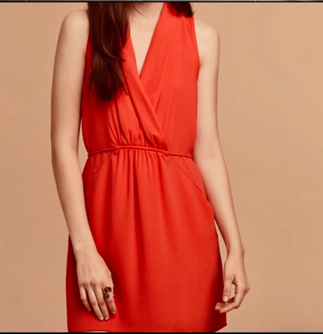 Wilfred Sabine Orange Dress Sz: XS