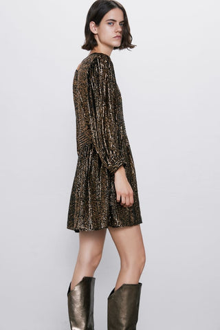 Zara Special Edition Sequin Dress Sz: S