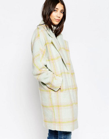 Yumi Oversized Check coat Medium