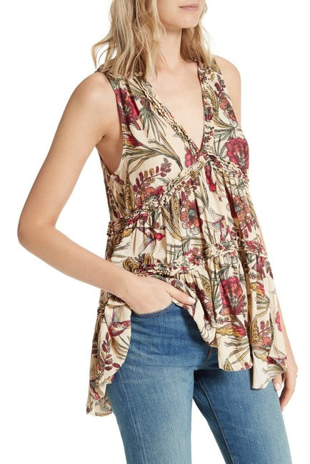 Free People Floral Tunic Sz: S