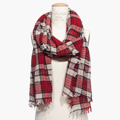 Madewell Nightglen Plaid Scarf