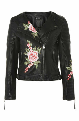 Topshop Luna Faux Leather Jacket Sz: 4