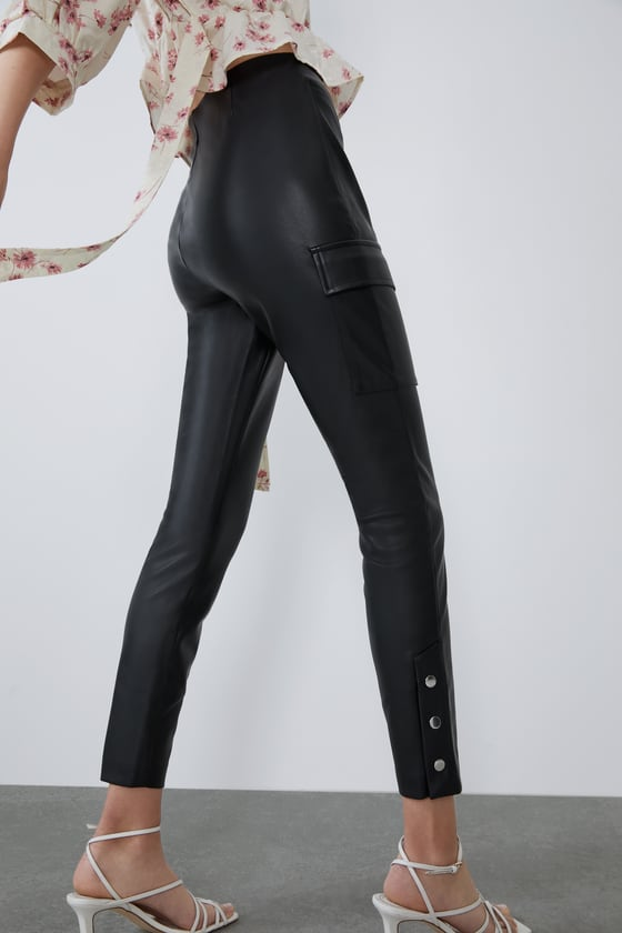 Zara Faux Leather Pants Sz: Small