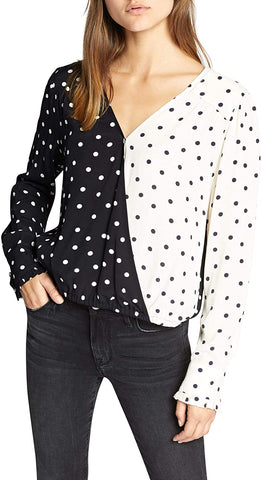 Sanctuary Polka Dot Top Sz: M