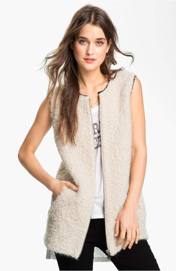 Maison Scotch Faux Shearling Vest Sz: S