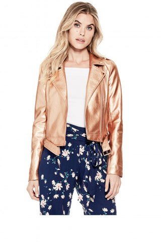 Guess Rose Gold Moto Jacket Sz: M