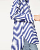 Zara Striped Blouse Sz: XS