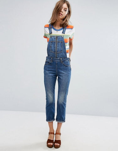 Levis Orange Tab Denim Overalls Sz 28