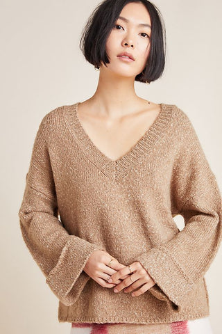 Anthropologie Maggie Bell Sleeve Sweater Sz: S