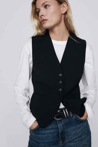 Zara Fitted Vest Sz: L