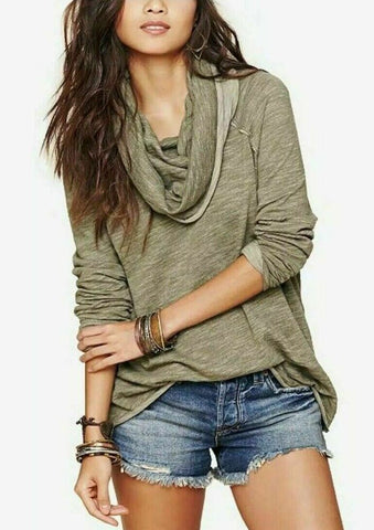 Free People Beach Cocoon Cowl Neck Pullover Sz: XS/S