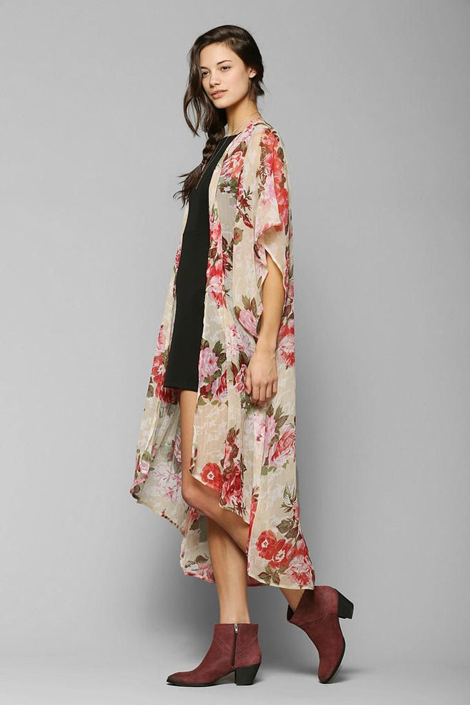Band Of Gypsies Angel Floral Duster Sz. M