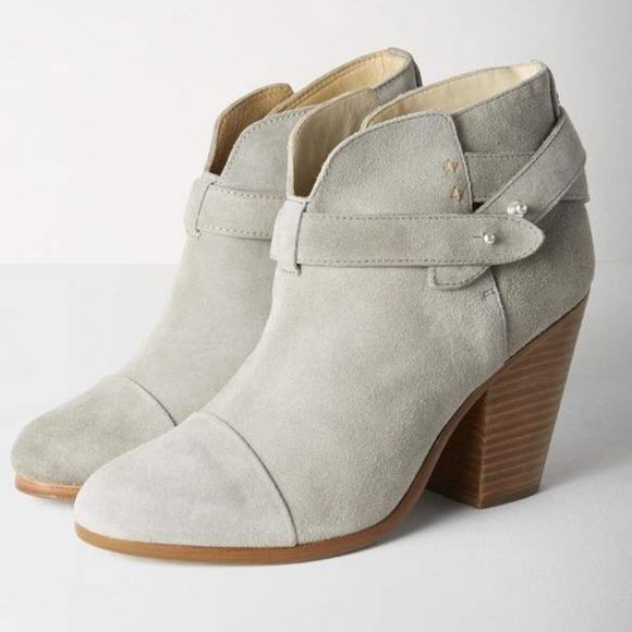 Rag & Bone Grey Suede Harrow Boots Sz: 40