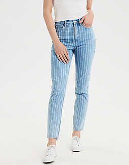American Eagle Striped Jeans Sz: M